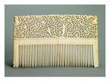 Ornamental Comb with Teeth on One Side  from Kholmogory  Mid 18th Century (Walrus Ivory)