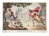 Atalanta and Hippomenes  Book X  Illustration from Ovid's Metamorphoses  Florence  1832
