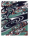 Fabric Design  End Nineteenth Century (W/C on Woodcut)