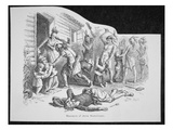 Massacre of Anne Hutchinson (Litho)
