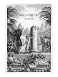 Frontispiece of ' Politique'  Tome Ii of Jean-Jacques Rousseau (Engraving)