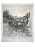 The Last Boat-Load of the British Leaving New York  1783 (Engraving)