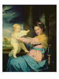Portrait of Caroline  Duchess of Marlborough with Her Daughter Lady Caroline Spencer