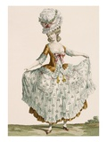 Ladies Style Evening Dress  Engraved by Voysard  Plate No64