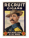 Poster Advertising Recruit Cigars  C1899 (Colour Litho)