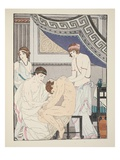 Chiropractic Adjustment  Illustration from 'The Works of Hippocrates'  1934 (Colour Litho)