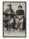 Postcard Depicting Mountain People in Saugues  Haute-Loire  C1900 (B/W Photo)