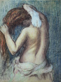 Femme a Sa Toilette  C1895 (Pastel on Paper)