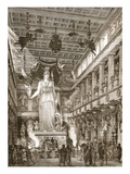 Interior of the Parthenon  Restored (Litho)