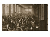 Workers in the Blacksmith&#39;s Shop at Beckton Gas Works  from &#39;Wonderful London&#39;  Published 1926-27