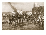 Russian Cossack Artillery Engaging the Chinese Outside Peking