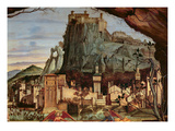 Sacre Conversazione  Detail of the Town and Castle in the Background (Panel) (Detail of 84002)