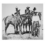 Black Cowboys at Bonham  Texas  C1890 (B/W Photo)
