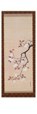 Hanging Scroll Depicting Cherry Blossoms  from a Triptych of the Three Seasons  Japanese