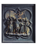 The Ascent of Christ to Calvary  Seventeenth Panel of the North Doors of the Baptistery