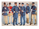 Uniforms of the Us Marine Corps  1899 (Colour Litho)