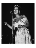 Billie Holiday (1915-59) (B/W Photo)