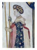 The Nine Worthies and the Nine Worthy Women  Detail of Semiramis  1418-30 (Fresco)