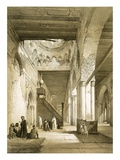 Interior of the Maqsourah in the 9th Century Mosque of Ahmed Ibn-Touloun  Cairo (Litho)