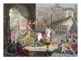 A Roman Triumph  Illustration from 'L'Antique Rome'  Engraved by Labrousse  Published 1796