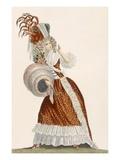Tres Grande Parue  Plate from 'Galeries Des Modes Et Costumes Francais'  C1778-87