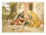 Women Grinding Corn  from 'India Ancient and Modern'  1867 (Colour Litho)
