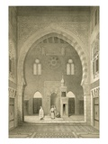 Interior of the Mosque of Qaitbay  Cairo (Litho)