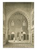 Interior of the Mosque of Qaitbay  Cairo (Litho)