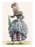 La Nymphe  Engraved by Dupin  Plate No210 from 'Galeries Des Modes Et Costumes Francais' C1778-87