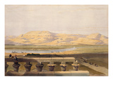 Libyan Chain of Mountains from the Temple of Luxor  from &quot;Egypt and Nubia&quot;  Vol1 (Litho)