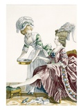 An Elegant Woman Washing Her Feet  Plate 32 from 'Galerie Des Modes Et Costumes Francais'