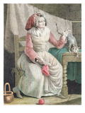 Madame Sans Culotte  C1789 (Colour Litho)