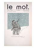 Front Cover of 'Le Mot' Magazine  March 1915 (Colour Litho)