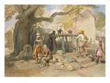 The Village Welll  from 'India Ancient and Modern'  1867 (Colour Litho)