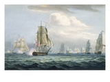 Sir Sidney Smith's (1764-1840) Squadron Engaging a French Flotilla  26th May  1804