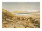 Salt Lake - Thibet  from &#39;India Ancient and Modern&#39;  1867 (Colour Litho)
