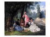 A Summer Luncheon  1874 (Oil on Canvas)