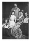 The Archduke Francis Ferdinand of Austria and His Family (B/W Photo)