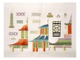 Chinese Pagoda Design (Colour Litho)