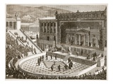 Theatre of Dionysus at Athens (Litho)