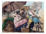 Dog Clippers on the Pont-Neuf  1820 (Colour Litho)