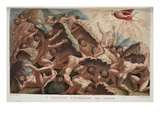 The War of the Giants Against Jove  Book I  Illustration from Ovid's Metamorphoses  Florence  1832