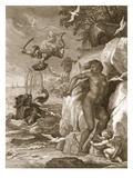 Perseus Delivers Andromeda from the Sea Monster  1731 (Engraving)