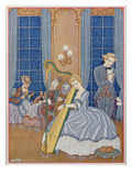 Valmont Seducing His Victim  Illustration from 'Les Liaisons Dangereuses'