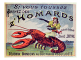 Advertisement for Cough Sweets 'Z'Homards'  Late Nineteenth Century (Colour Litho)