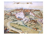 Luxembourg  the Capital of the Duchy  1649 (Hand-Coloured Engraving)