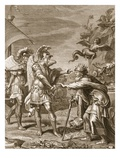 Phineus Is Delivered from the Harpies by Calais and Zethes  1731 (Engraving)
