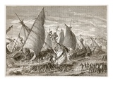 The Naval Battle in the Harbour of Syracuse (Litho)