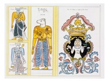 Zodiac Symbols  from 'The History and Doctrine of Buddhism' by Edward Upham  1829 (Colour Litho)