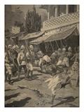 Rebellion in Bombay  Illustration from 'Le Petit Journal: Supplement Illustre'  1898 (Litho)